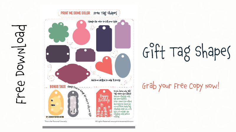 gift tags shapes